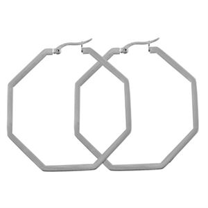 Picture of Silver Octagonal Hoops